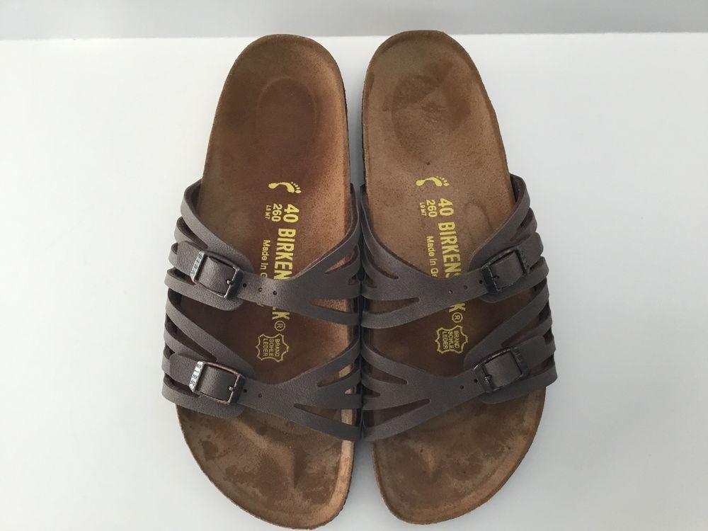 40 L9 M7 (260) Birkenstock MOCHA GRANADA Strappy Slides Sandals COCOA BROWN   Birkenstock  Strappy  Casual 66acdd88bb8