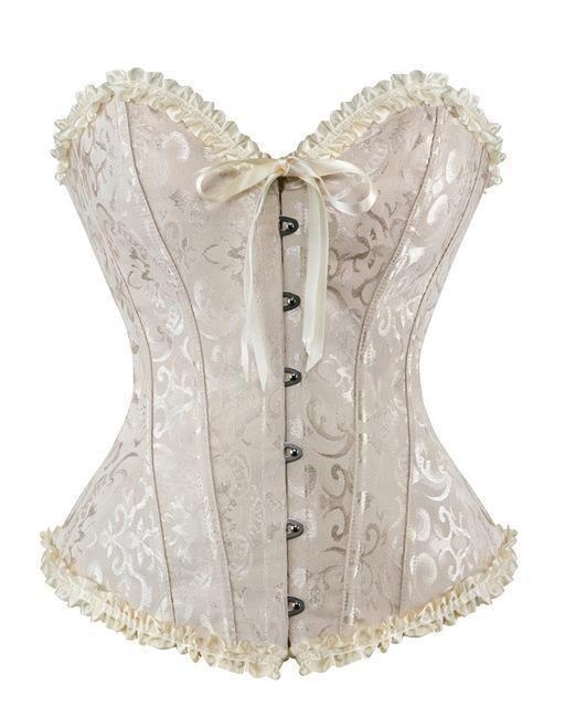 09fb18a42f9 Caudatus Vintage Corsets And Bustiers Plus Size Flower Print Bridal Bustier  Corset Push Up Victorian