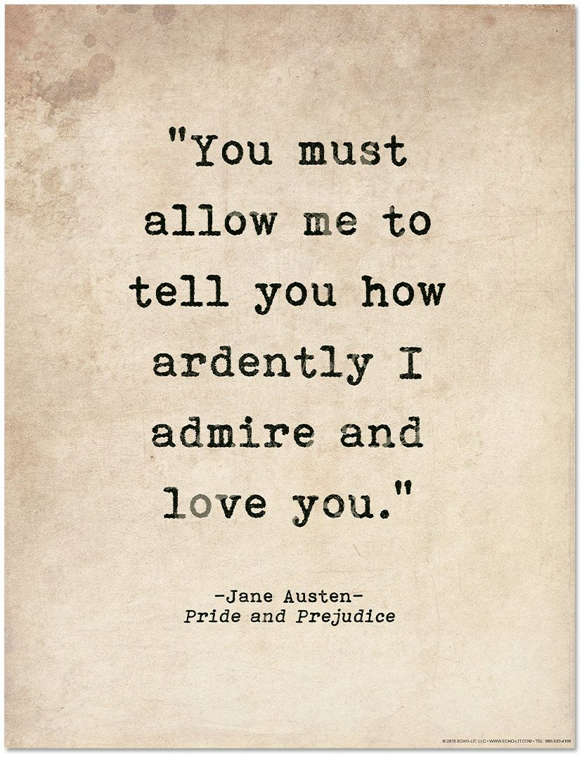 Romantic Quote Poster How Ardently I Admire And Love You Etsy In 2021 Pride And Prejudice Quotes Literary Love Quotes Best Love Quotes