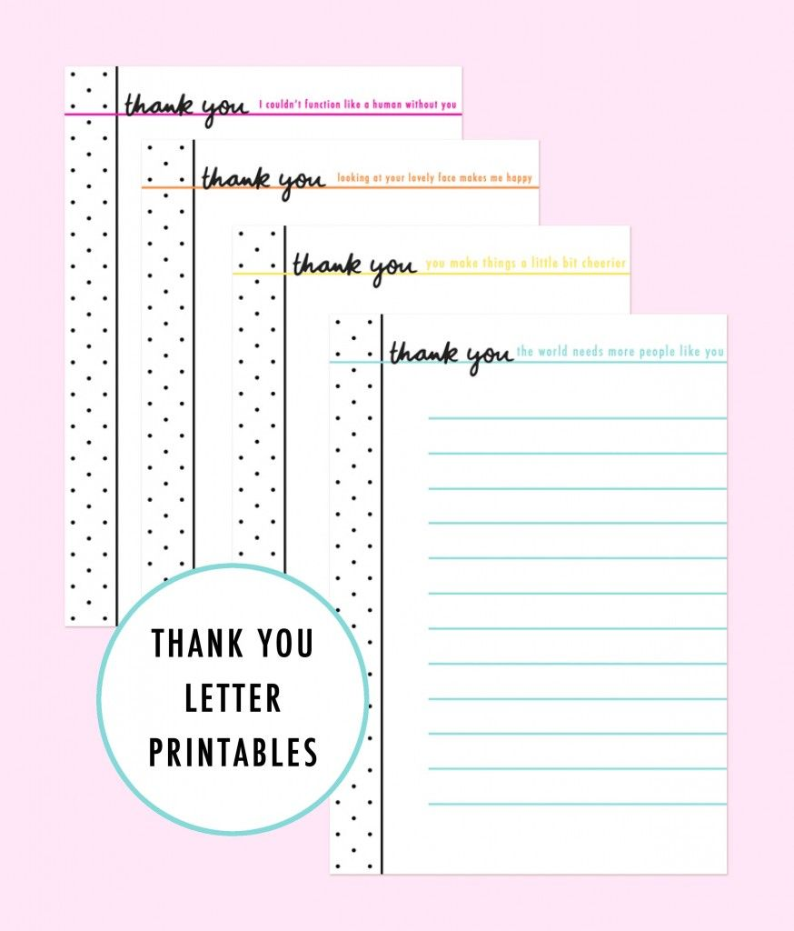 Thank You Letter Printables #theterrificproject