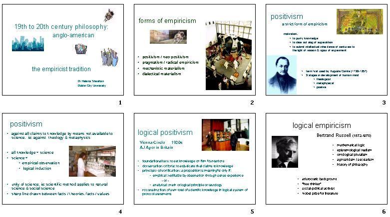 positivism, neopositivism, pragmatism, radical empiricism