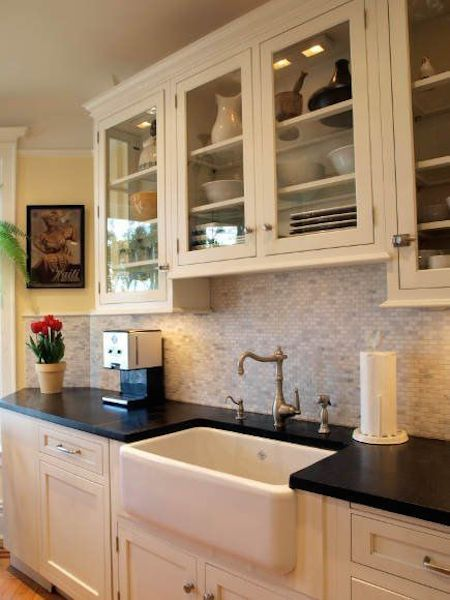 Options For A Kitchen Design With No Window Over The Sink Victoria Elizabeth Barnes Kitchen Sink Decor Kitchen Without Window Kitchen Cabinets Over Sink
