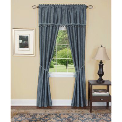 Achim Harrison 5 Piece Curtain Set Hapn84bu12 Cottage Curtains
