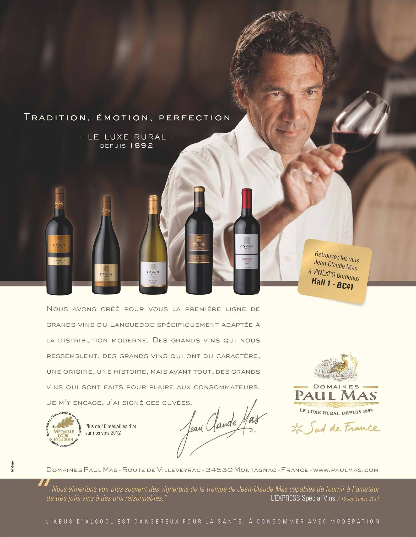 Domaine Paul Mas - Vins et spiritueux - they make the best Malbec but I can never find it