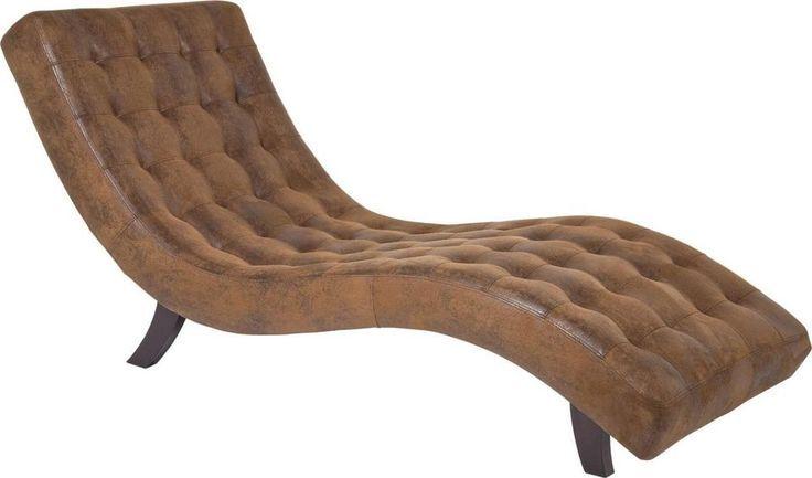 Relaxliege Liege Sessel Wellness Recamiere Chaiselounge Vintage NEU KARE Design