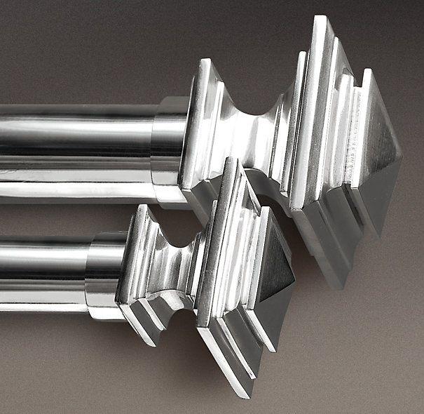 Estate Metal Square Finials Silver Set Of 2 Window Hardware Restoration Hardware Great