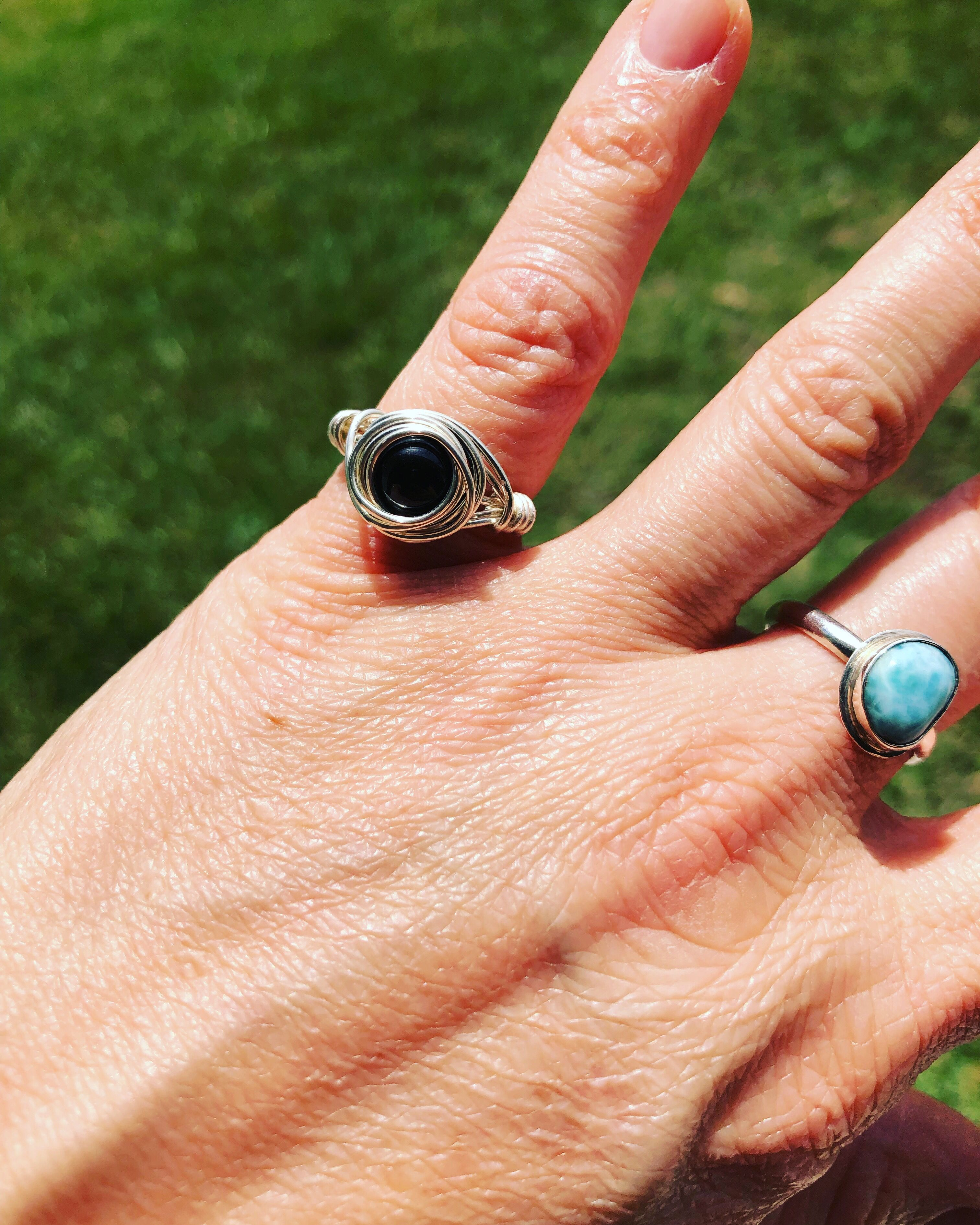 Black Tourmaline Ring Black Tourmaline Ring Reiki Jewelry Tourmaline Ring
