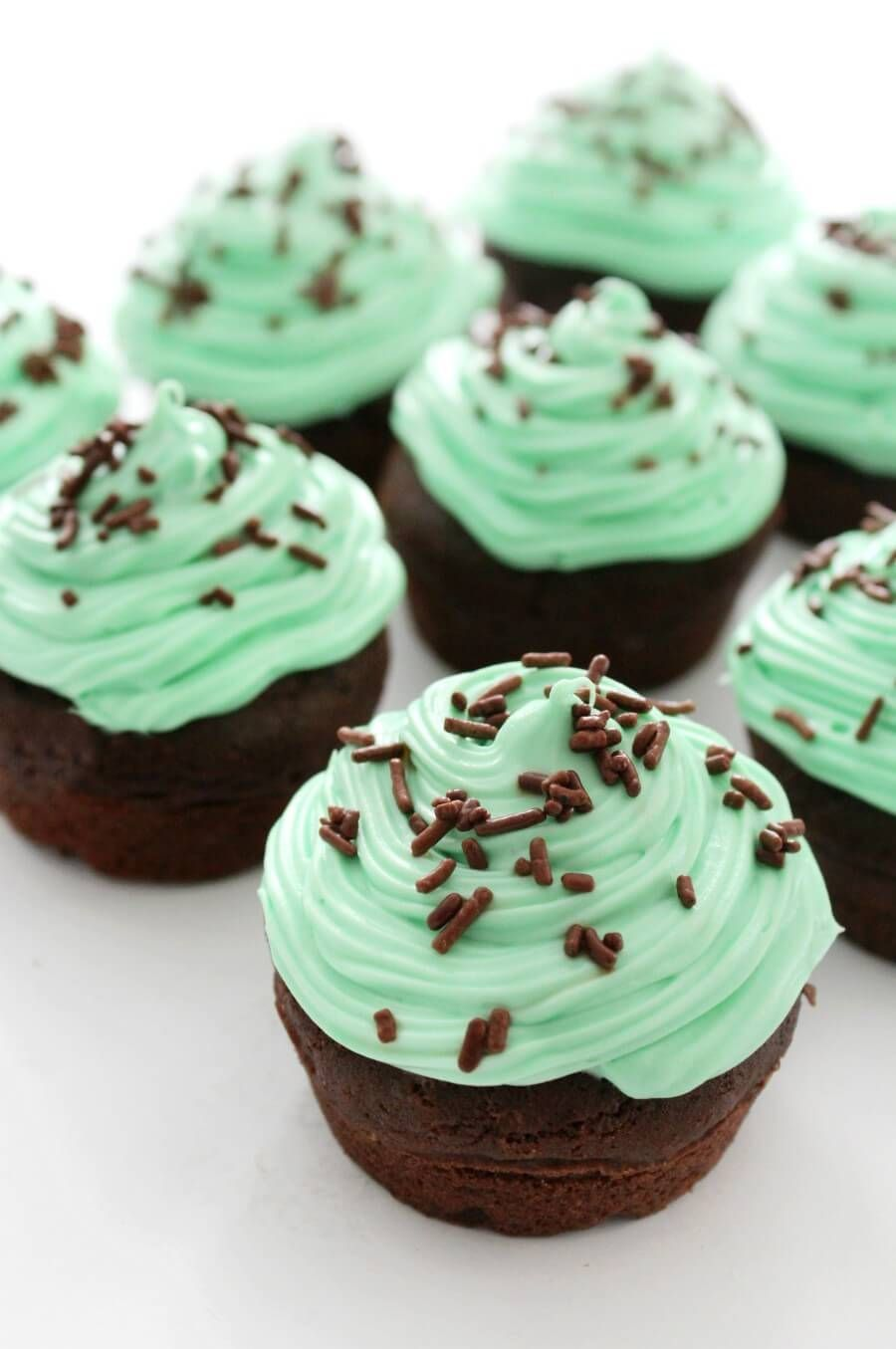 Glutenfree mint chocolate cupcakes vegan allergyfree