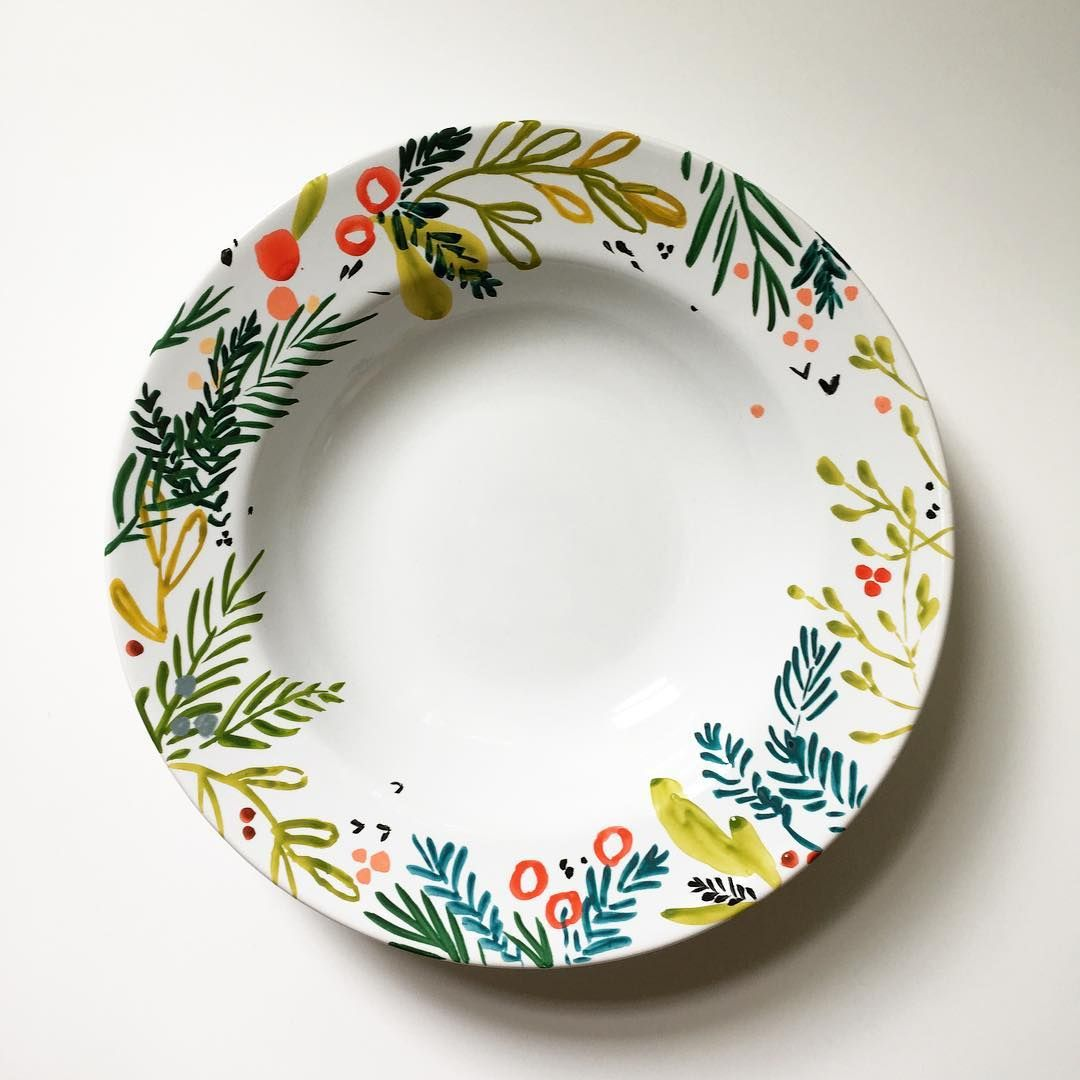 Kellyventuradesign holiday is in full swing over here for How to make ceramic painting