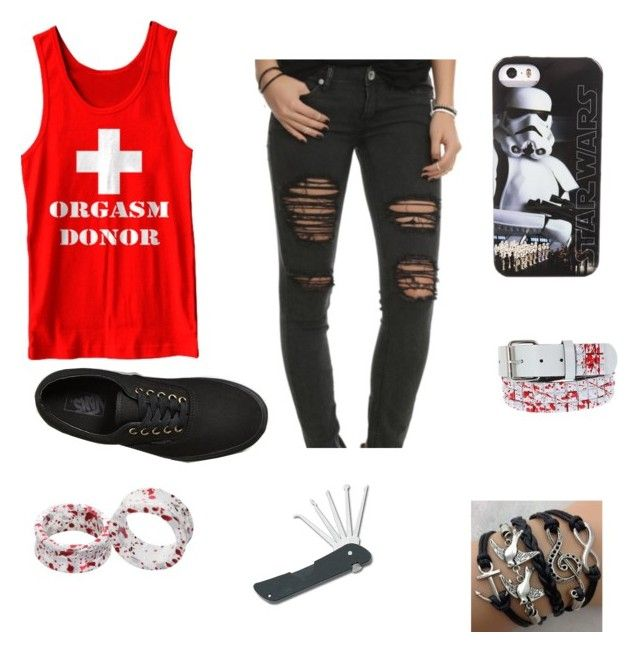 """Untitled #50"" by candyndstuff ❤ liked on Polyvore featuring Humör and Vans"