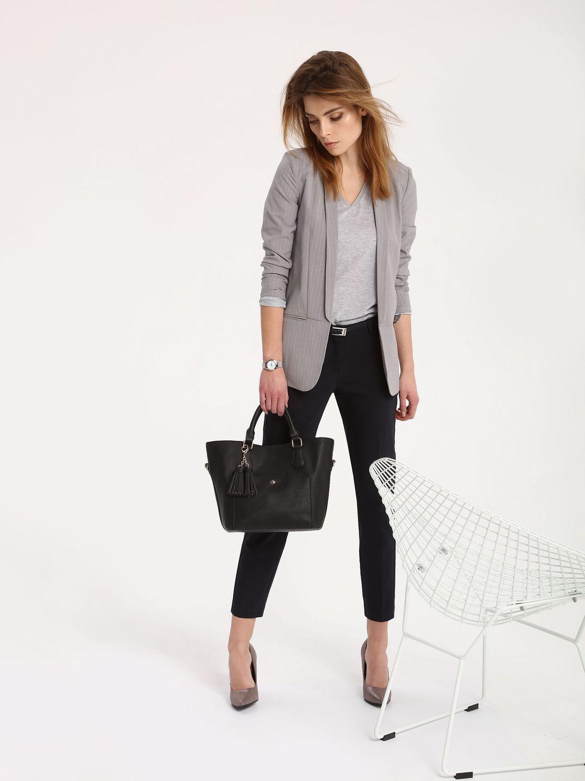 fff422a239f089 Spodnie damskie granatowe, pomarańczowe - SSP2430 spodnie długie - TOP  SECRET - Odzieżowy sklep internetowy