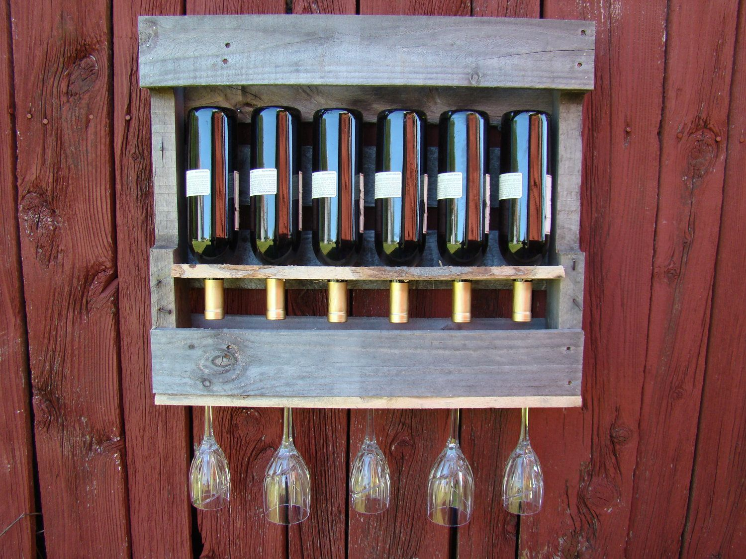 Your Place To Buy And Sell All Things Handmade Wine Rack Recycled Bottles Wine Glass Rack