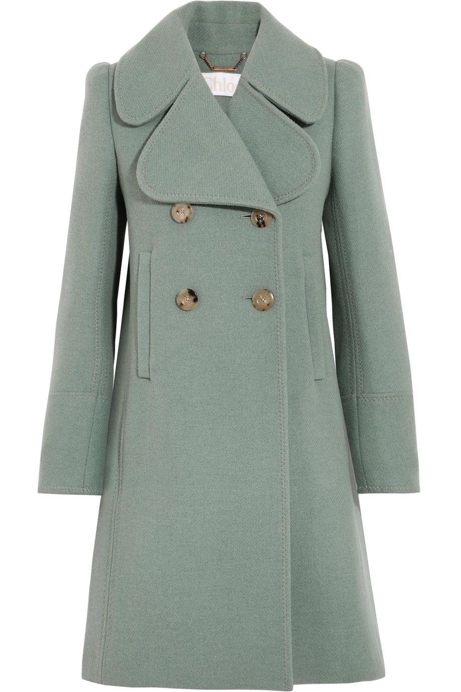 841b826908 Chloé | Double-breasted wool-blend felt coat | NET-A-PORTER.COM ...