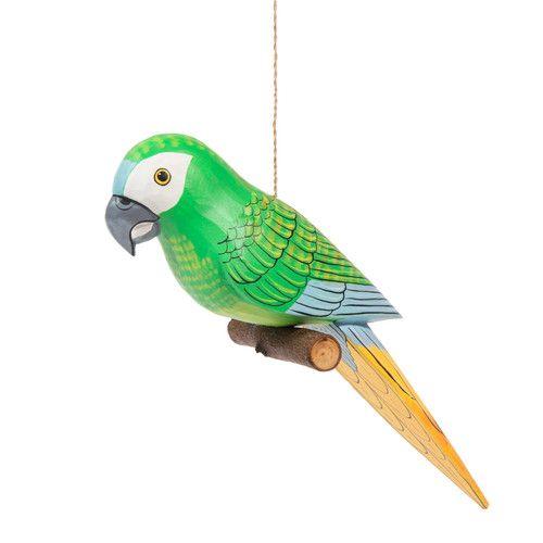 Papagei Amazone Aus Holz Zum Aufhangen H 9 Cm Amazonen Papagei