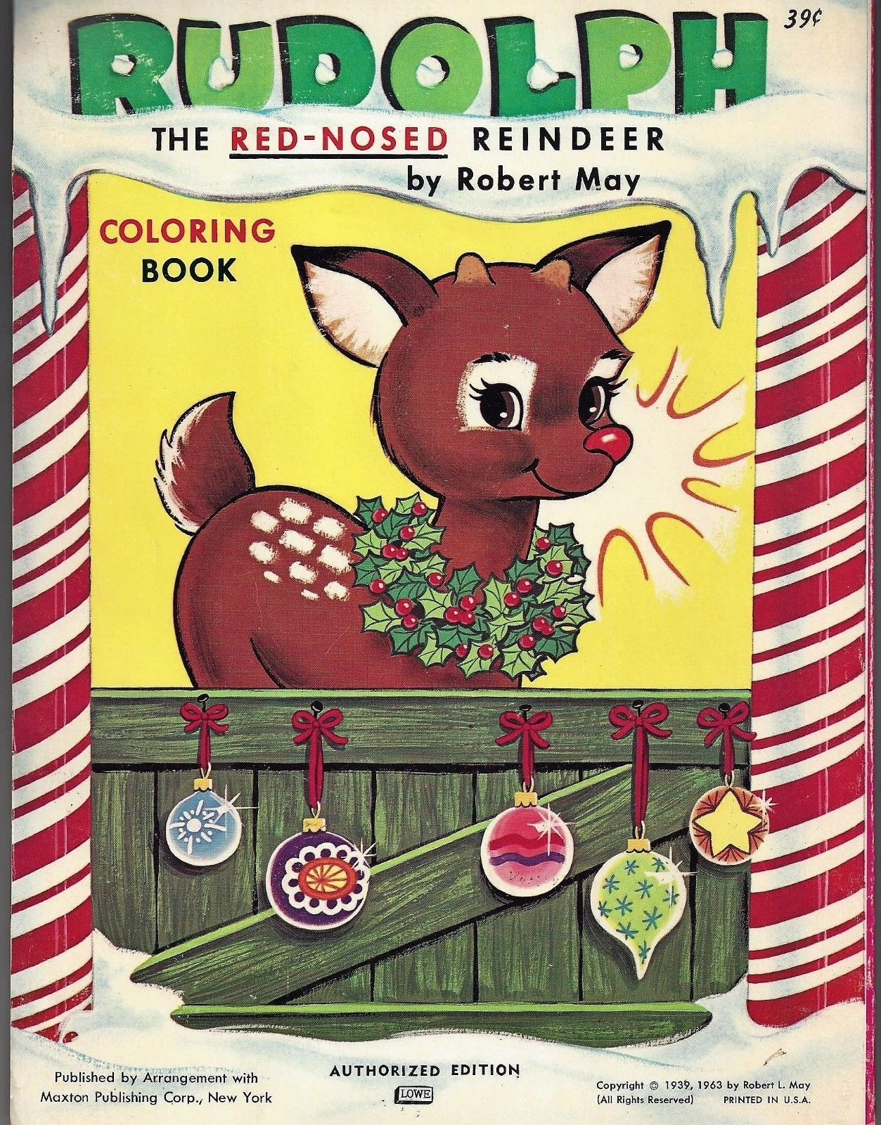Vintage Rudolph The Red Nosed Reindeer Coloring Book 1963 Unused For Sale 9 99 See Photos Money Back Guarantee Up For Auction Is A Malarbocker Julbocker