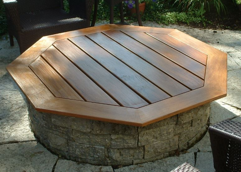 Covertable To Make For New Firepit Yard Pinterest Backyard - Teak fire pit table
