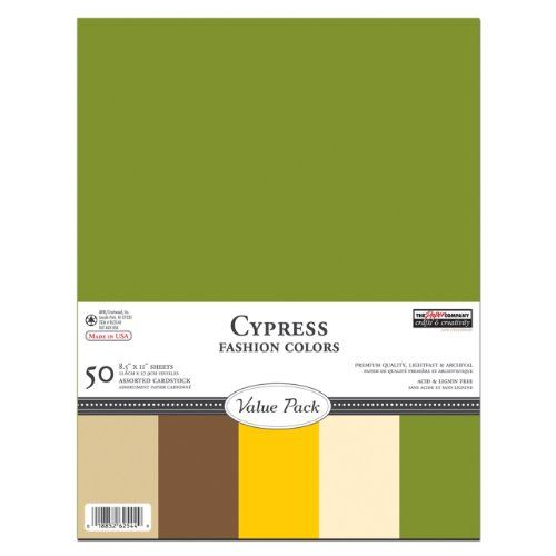 The Paper Company, P62544, Cypress Cardstock Value Pack, 8-1/2 by 11