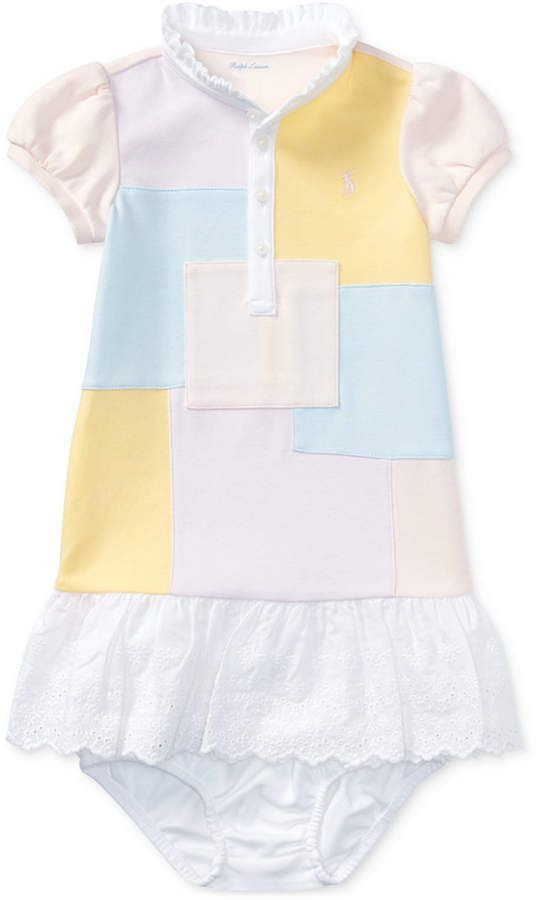 120893c8e9 Polo Ralph Lauren Ralph Lauren Patchwork Dress & Bloomer, Baby Girls ...