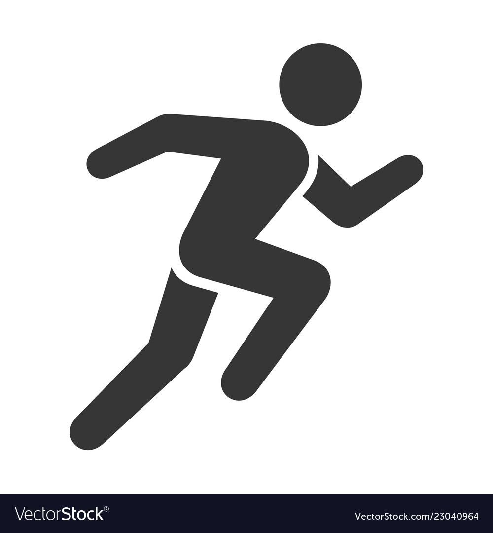 Run Icon Running Man On White Background Vector Illustration Download A Free Preview Or High Quality Icon Christmas Applique Patterns Graphic Design Posters