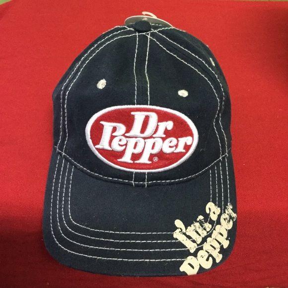 DR PEPPER cap hat . I m a Pepper . Black New . No issues . Dr Pepper  Accessories Hats d85ce973219b