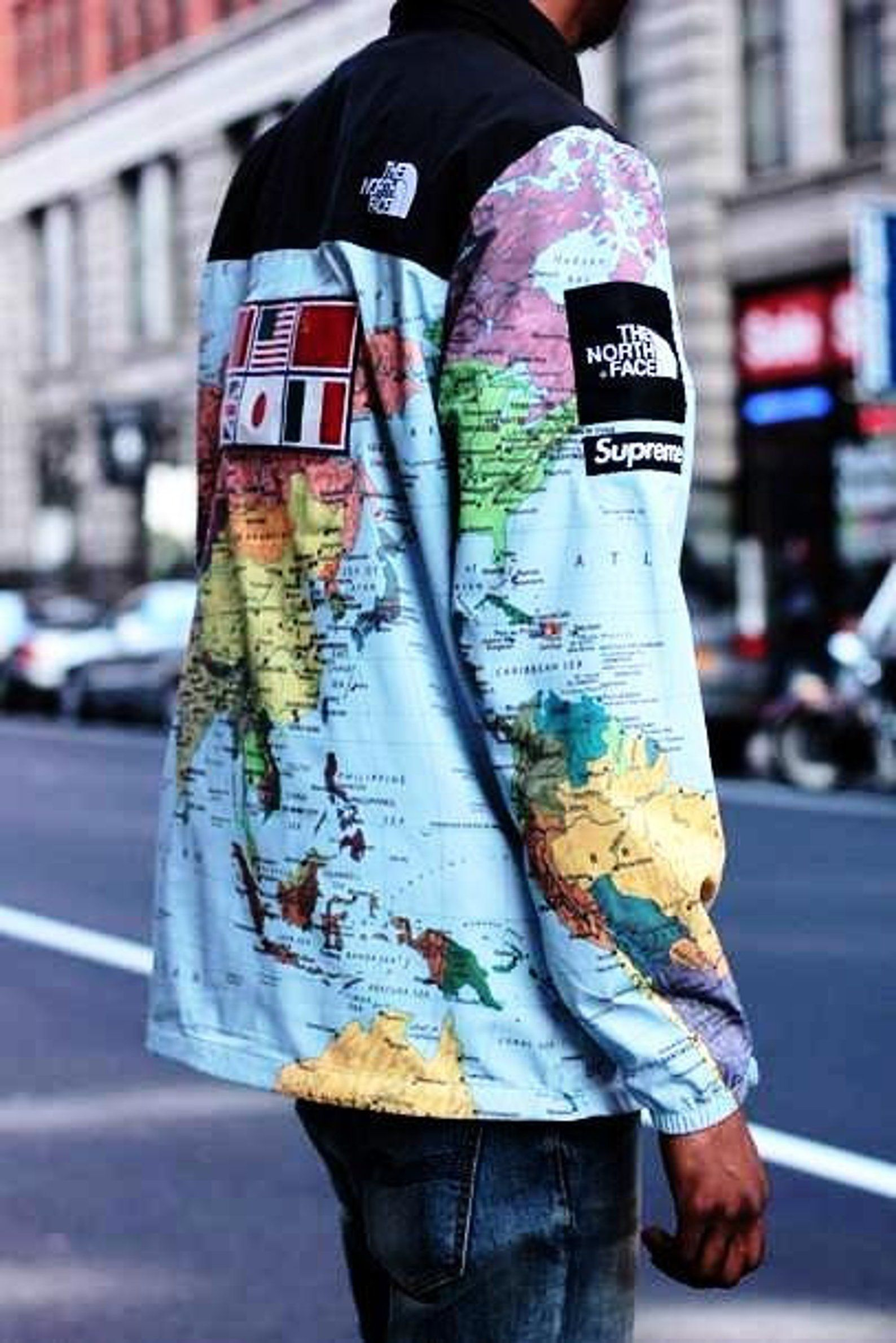 Supreme x The North Face world map jacket | Etsy in 2019 ...
