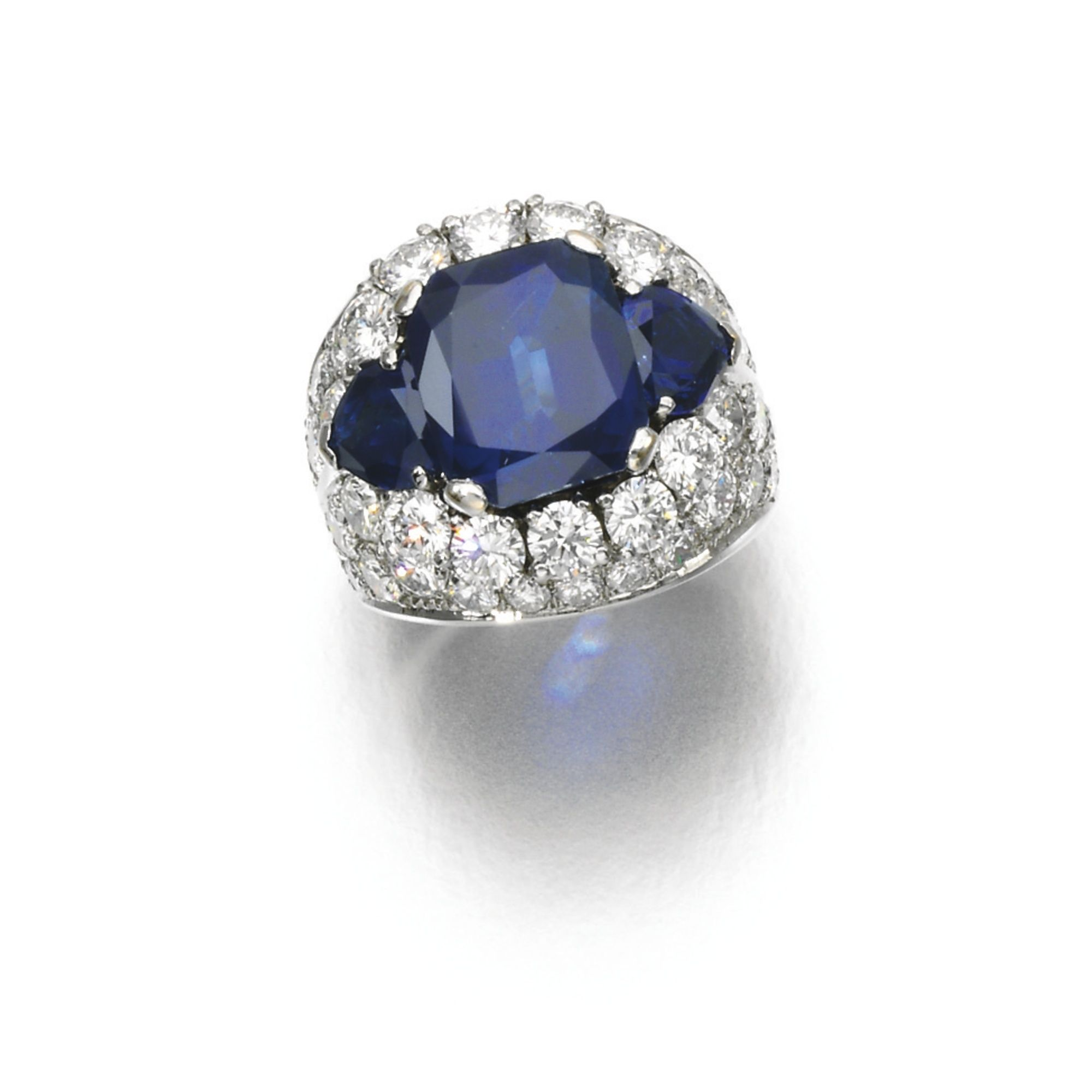 sapphire ring gold sohojewelers deco art vintage antique the shield white products cocktail estate alexandria diamond