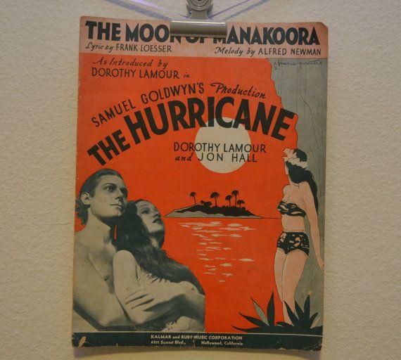 Vintage 1937 The Moon of Manakoora Music by FloridaFindersPaper, $7.50