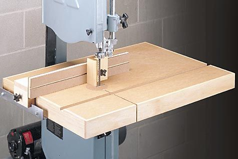A Perfect Band Saw Table With A Simple But Dead Accurate Little Fence Bandsaw Woodworking Saws Woodworking
