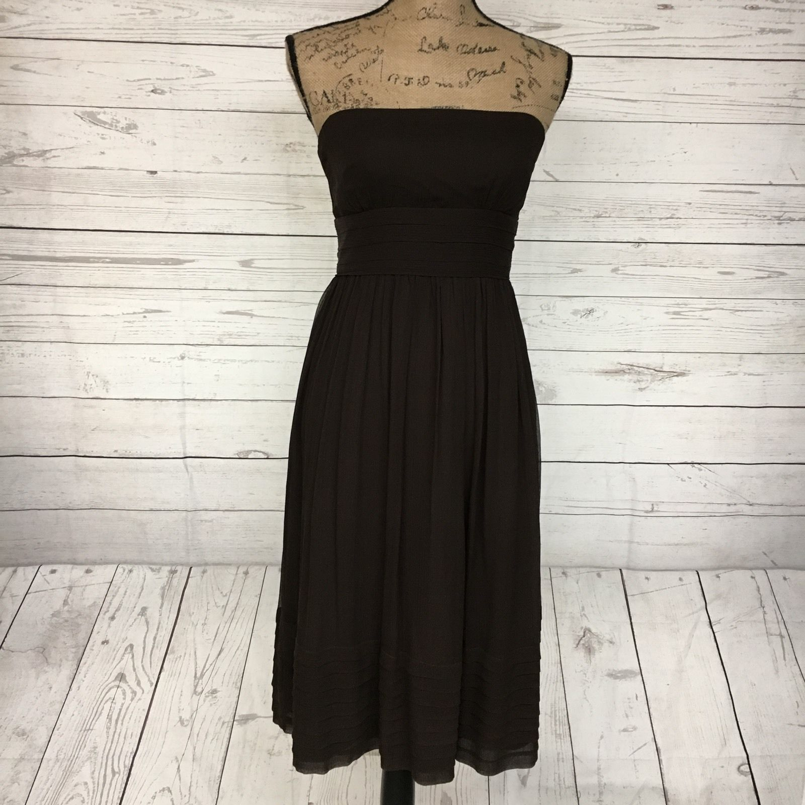 Nice great j crew womenus size silk strapless dress empire