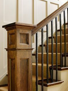 Cabin: This Is How We Want Our Stair Rail   Simple Metal Rods With Wood