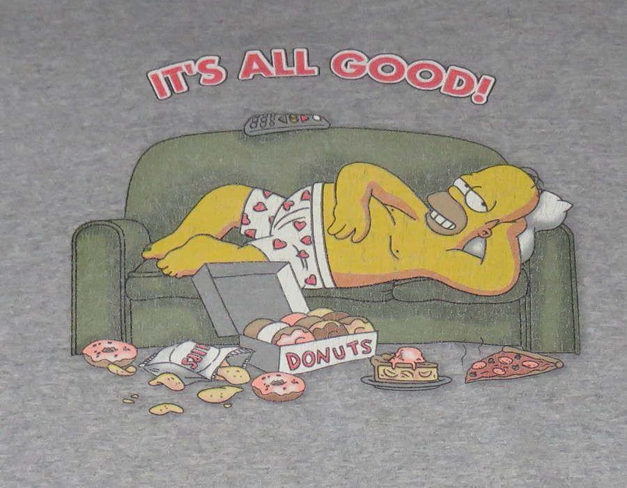 Homer Simpson It S All Good Donuts Shirt Adult Sz L Xl Sofa