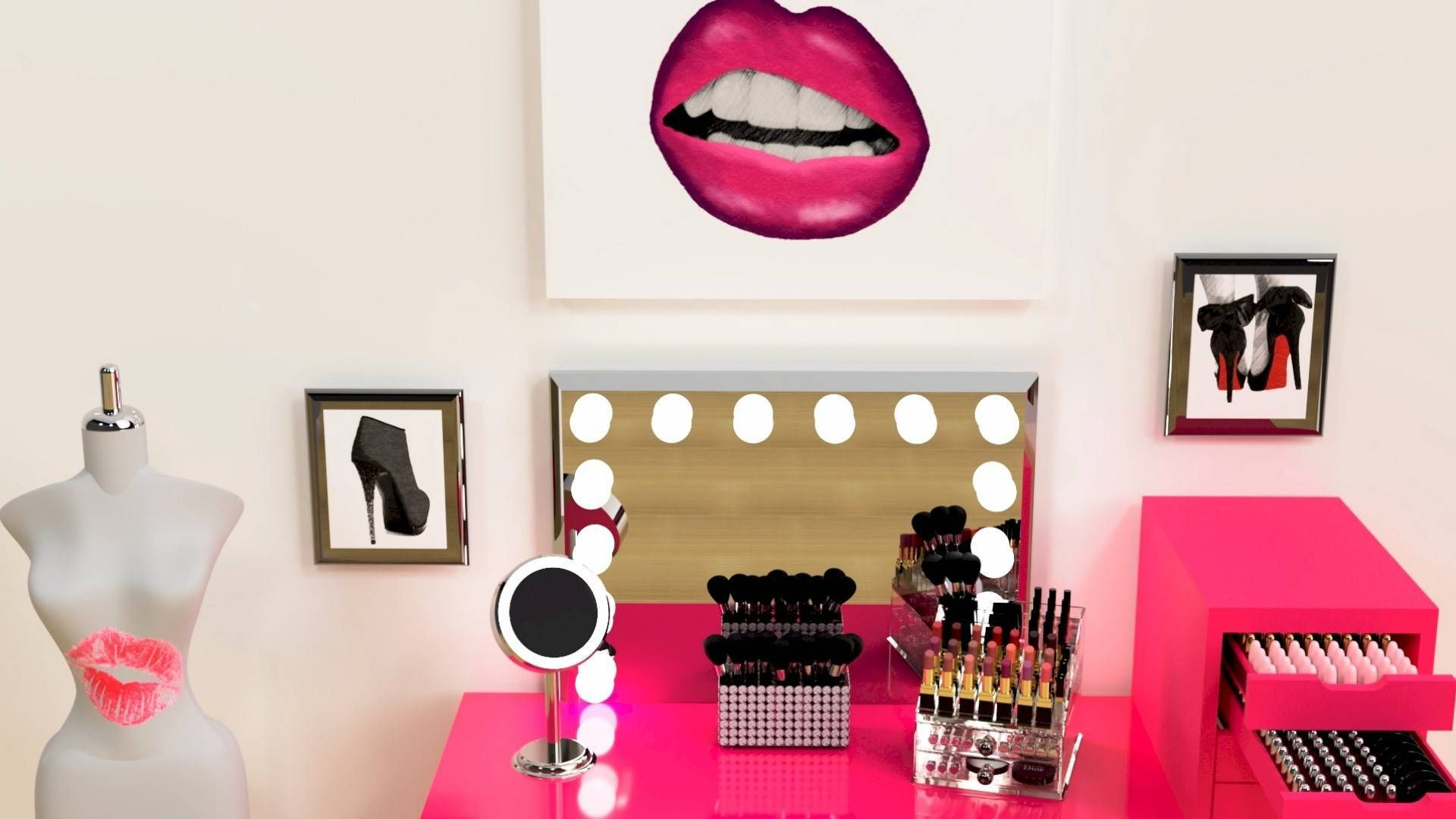 Download FREE GLAM Wall Décor For Your Beauty Room And More