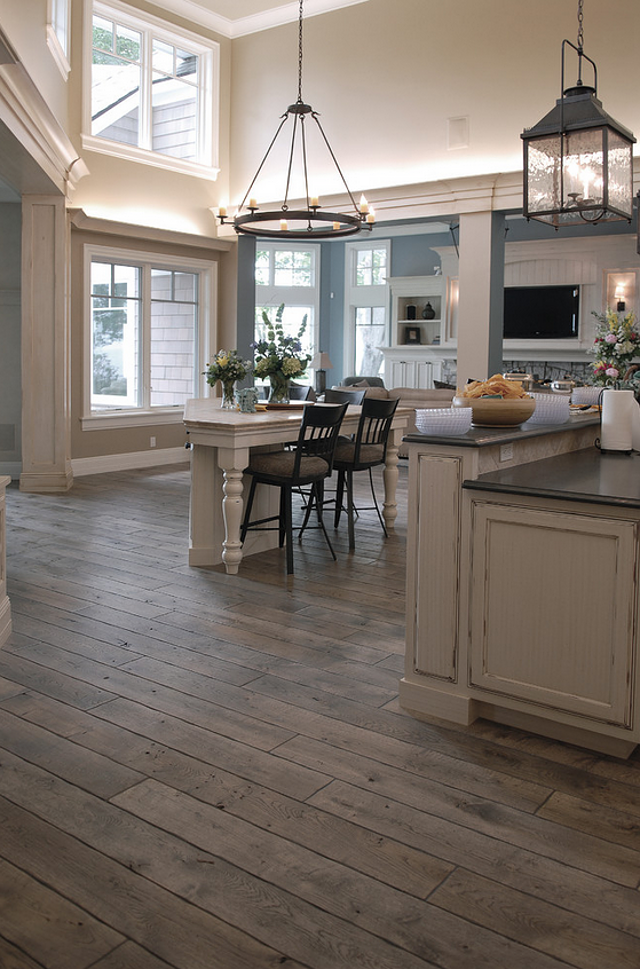 Cottage ♥ Kitchen LOVE THE FLOOR . This Is The Floor I Want In My House.but  Darker Wood