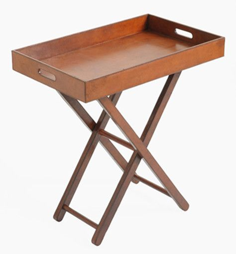 Leather Tray Table