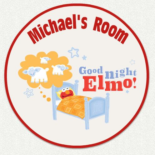Good Night Elmo Custom Name Wall Decal - Wall Sticker Outlet ...