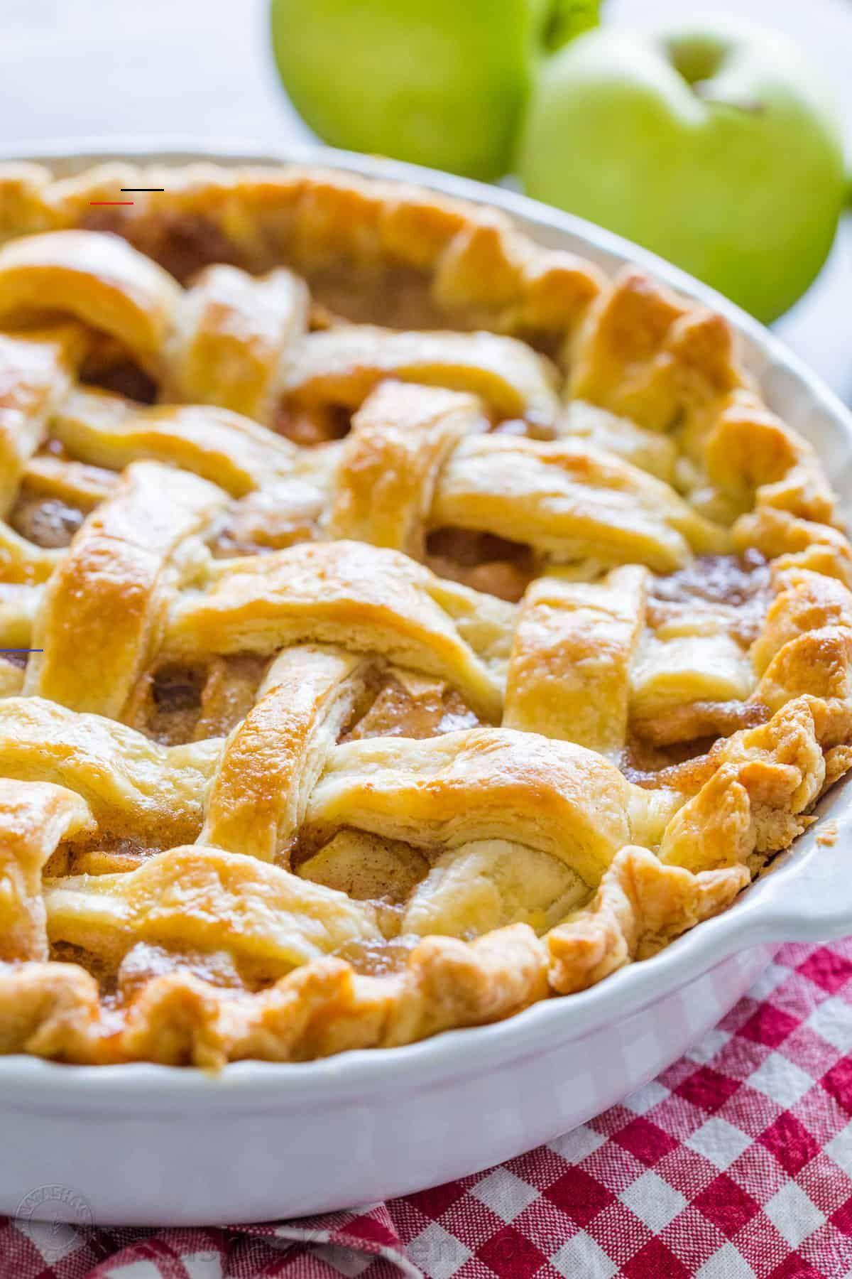 Apple Pie Recipe With The Best Filling Video Natashaskitchen Com Applepiecookies Pie De Manzana Receta Pay De Manzana Receta Comidas Sin Carbohidratos