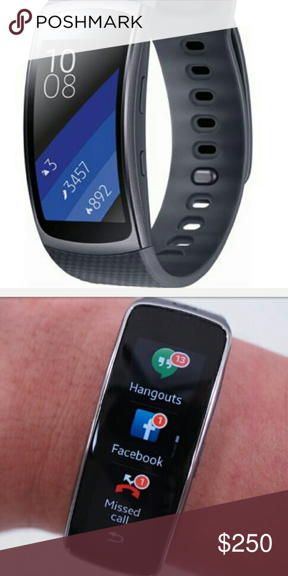 New Samsung galaxy fit smart watch nice watch messages