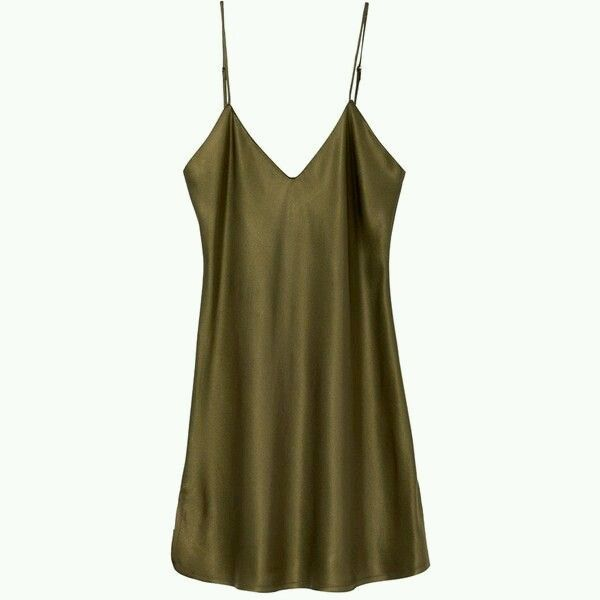 fecb9deb6c18 Pin by since31st on Elegance in 2019 | Silk cami dress, Olive green ...