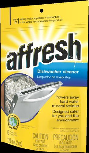 Whirlpool W10282479 Affresh Dishwasher Cleaner - Whirlpool W10282479 Affresh Dishwasher Cleaner  List Price: $9.00   Once a month solution for dishwasher and disposal odor Pouch contains 6 tablets Penetrates, dissolves and removes odor    List Price: $9.00 Your Price: $1.62-   Have you ever wondered where in the world that awful smell is coming from? It could be your dishwasher or garbage disposal! Water lines get clogged and back up allowing stale, stagnant water and debris