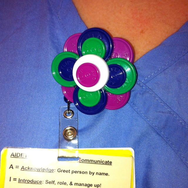 clever idea to reuse medicine vial caps make i d badge holders