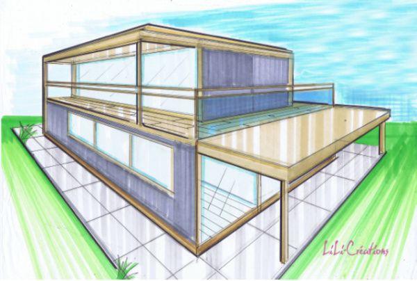 Container house Casas de Containers Pinterest - budget pour construire une maison