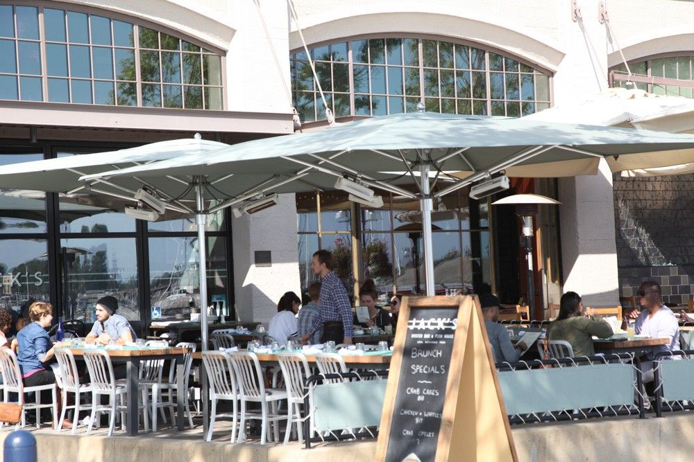 Jack London Square Located In Downtown Oakland Along The Waterfront Has