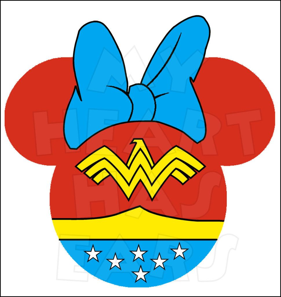 Minnie mouse dressed as wonder woman instant download digital clip minnie mouse dressed as wonder woman instant download digital clip art diy iron on transfer my biocorpaavc