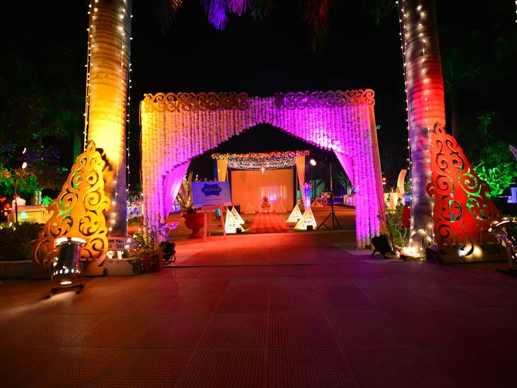Entry Gate of Wedding Venue. Dashing Ideas. Behind the