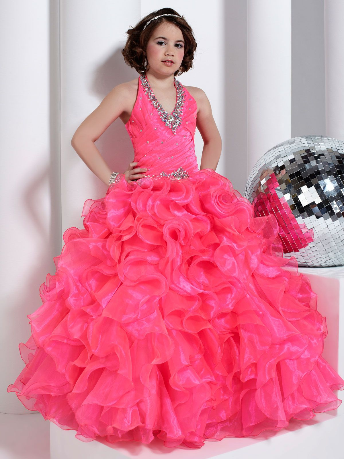 Pretty Tiffany Princess Pageant Dress 13318. This organza pageant ...