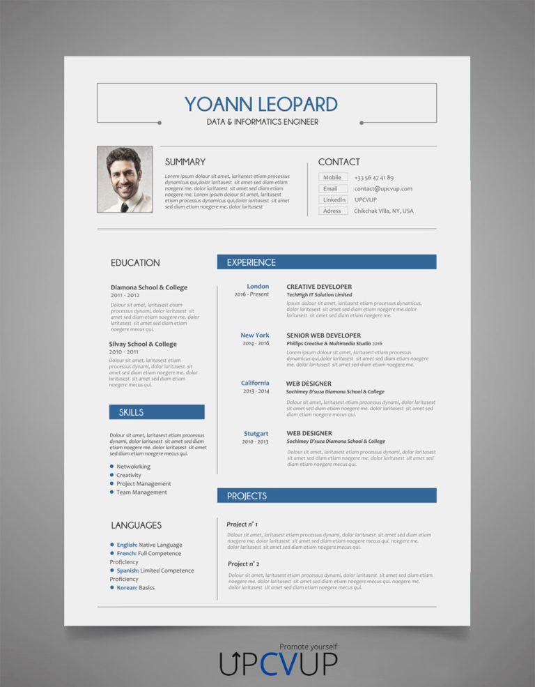 Exemple Cv Ingenieur Exemple Cv Modele De Cv Moderne Et Cv Ingenieur