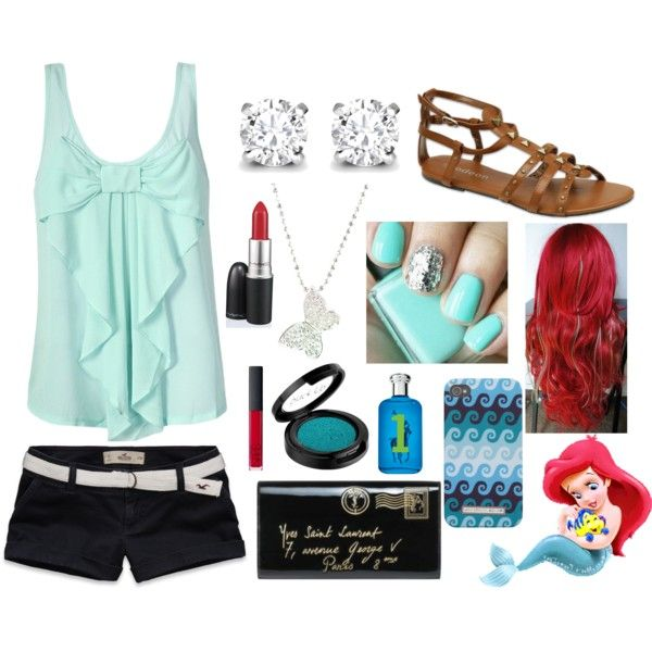 """If Ariel was a teenager in human form, I think this it what she'd wear."" by imjustlissy on Polyvore"