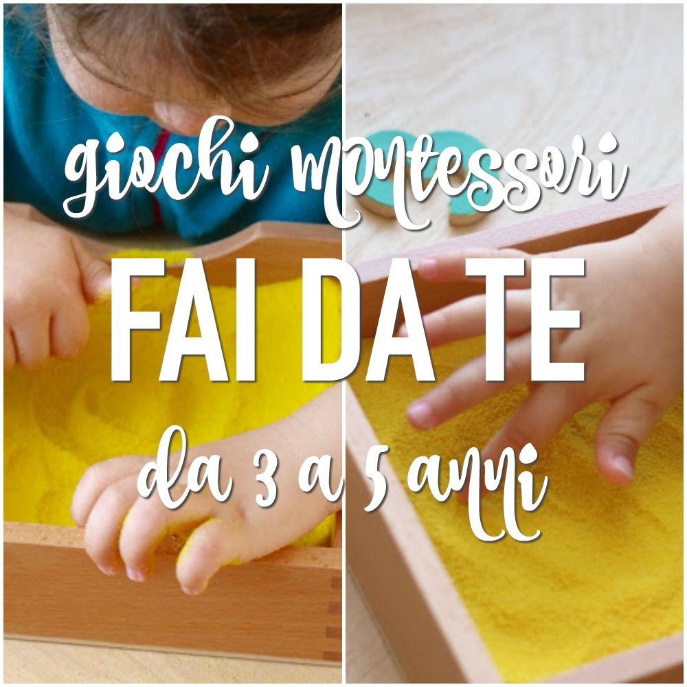 Giochi Montessori Fai Da Te 3 5 Anni Idee Bimbi Pinterest