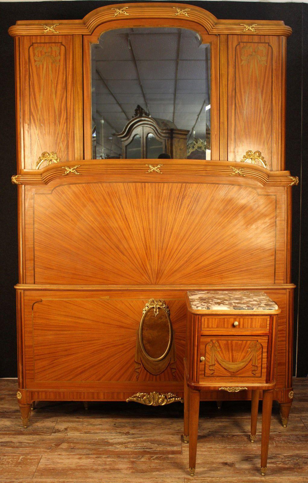 MAGNIFIQUE CHAMBRE À coucher Louis XVI en marqueterie à l ...