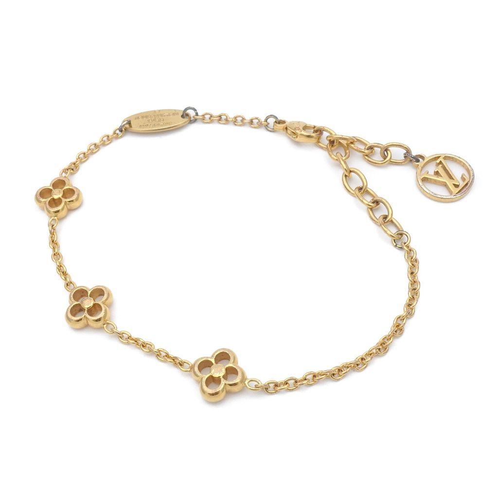 Authentic louis vuitton monogram flower full bracelet gold